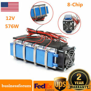 576w 8 chip Tec1 12706 Diy Thermoelectric Peltier Cooler Air Cooling Device Usa