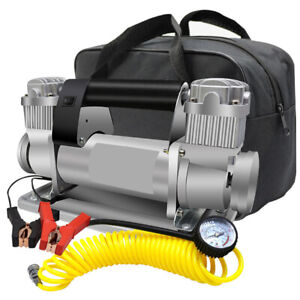480w Heavy Duty Double Cylinder Car Air Compressor Electric Pump Tire Inflatable