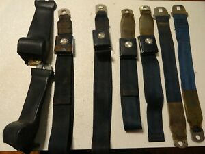 1967 Mustang Ford Deluxe Seat Belts Dark Blue Full Set