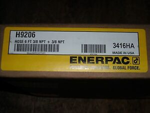 H 9206 Enerpac 6 Hydraulic Hose 3 8 Npt Ends 1 4 Id 1pc New