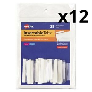 Insertable Index Tabs With Printable Inserts 1 5 cut Tabs Clear 1 5 Wide