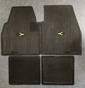 1955 1962 Plymouth Dodge Desoto Chrysler Imperial Floor Mats Set Black