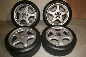 Set Of 4 17 Clk 55 W208 Oem Amg Staggered Wheels And Tires Fits Mercedes Benz