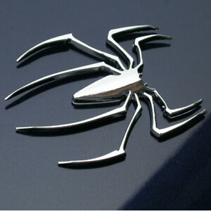 1x 3d Car Rear Truck Spider Logo Chrome Badge Emblem Sticker Trims Accessories