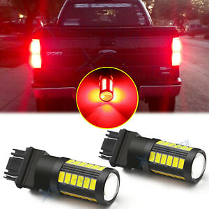 3157 3156 Red Led Brake Tail Stop Light Bulbs For Ford F 150 2012 2013 2014 2015