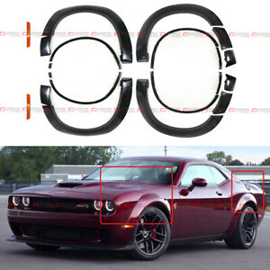 Demon Style Widebody Fender Flares Kit For 15 19 Dodge Challenger V6 3 6l Sxt Gt