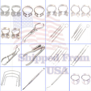 Professional Rubber Dam Clamps Instruments Forceps rubber Dam Frame Dental pick