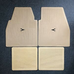 1955 1962 Plymouth Dodge Desoto Chrysler Imperial Floor Mats Set Ivory W black