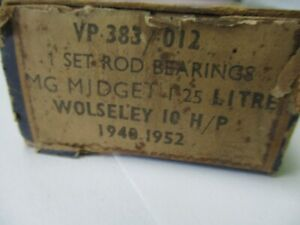 Mgtc Mgtd Mgtf Wolseley 10hp Engine Rod Bearings 012 Vandervell Vp383 012