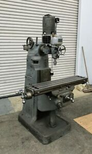 Bridgeport Mill 42 Table Servo Variable Speed x Axis Powerfeed mfg In Usa