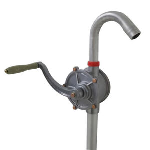 Drum Rotary Hand Pump Fast Flow 55 Gallon Fuel Oil Pump Fuel Transfer Tool