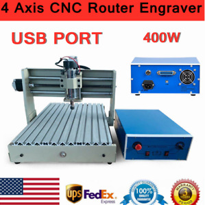 Usb 4axis 400w Cnc 3040 Router 3d Engraver Pcb Wood Engraving Drill Mill Machine