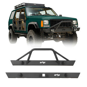 Fit For 1984 2001 Jeep Cherokee Xj Front Bumper And Rear Bumper