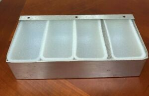 4 Compartment Condiment Tray Bar Home Garnish Center Stainless Condiment Caddy