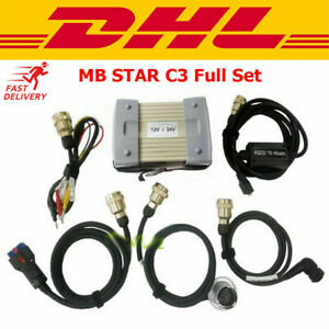 Best Mb Star C3 Pro Multiplexer Top Quality Full Set W 5 Red Cables Dhl Shipped