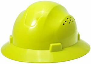 Noa Store Hdpe Lime Full Brim Hard Hat With Fas trac Suspension