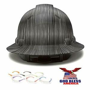 Full Brim Pyramex Hard Hat Metal Stripes Design Safety Helmet