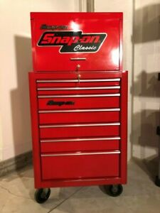 Snap on 26 Tool Box Set Top Chest Kra2055 And Roller Cabinet Kra2007 Nice