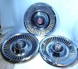 Vintage Gm 14 Chrysler plymouth dodge 1970s Chrome Hubcap Set Of 3 Wheel Covers