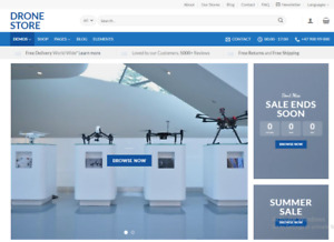 Flying Drones Store Turnkey Dropshipping Redymade Website Free Hosting Set Up