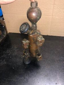 Antique Brass Detroit Lubricator 1 Pint Hit Miss Steam Engine Oiler