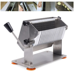 Commercial Potato Apple Fruit Vegetable Cutter Slicer Hss 8manual Sausage Slicer