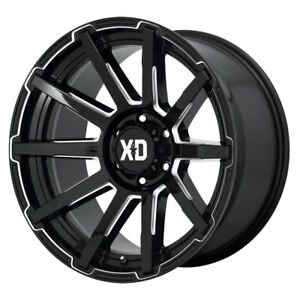 Xd Series Xd847 Outbreak 22x10 6x139 7 Offset 12 Gloss Black Milled Qty Of 4