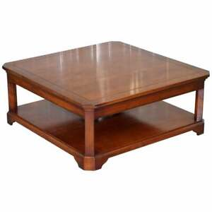 Stunning Harrods London Grange Paris Solid Cherry Wood Coffee Table Square