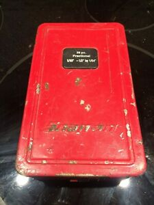 Snap On Vintage Drill Bit Box Case Box Only No Drill Bits