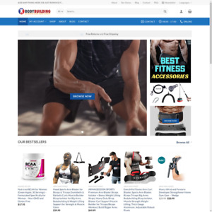 Turnkey Drop Shipping Body Building Supplement Equipment Website Store Free