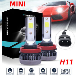 2x H11 H9 H8 Led Headlight Bulb Kit High Low Beam Fog Light 100w 6000k 16000lm
