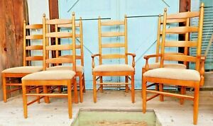 6 Ladder Back Dinning Chairs Shaker Style We Will Get You A Delivery Quote