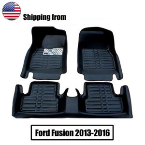 Fits For Ford Fusion 2013 2016 Car Floor Mats Front Rear Liner Waterproof Mat