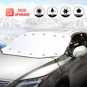 Thick Car Windshield Snow Ice Sun Protection Cover W 4 Layer Fit Most Car Suv