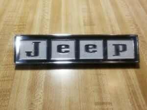 Jeep Grille Tailgate Emblem Chrome Painted Block Letters 968894 Wagoneer Razor