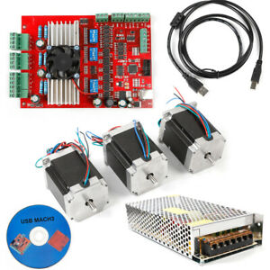 Usb Cnc Tb6600 3 axis Motor Driver Board 3xnema 23 Stepper Motors Controller Kit