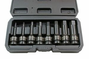 Us Pro Impact Hex Allen Bit Socket Set 1 2 Drive 5 6 8 10 12 14 17 19mm