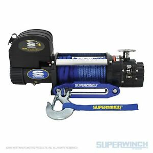 Superwinch 9500lbs 12 Vdc 3 8 in X 80ft Synthetic Rope Talon 9 5sr Winch