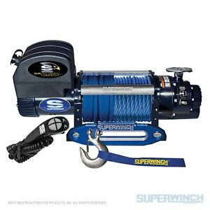 Superwinch 12500lbs 12 Vdc 3 8in X 80ft Synthetic Rope Talon 12 5sr Winch