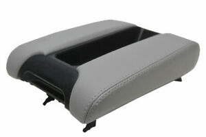 Center Console Lid Armrest Leather Cover For Bmw E39 97 03 Gray