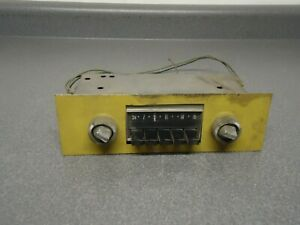 Oem American Motors Push Button Am Radio With Knobs 15d43144a07 1969 1970 Amc