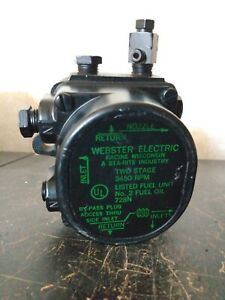 Webster Electric 42851 Two Stage 3450rpm Fuel Unit 728n Oil Pump Open Box