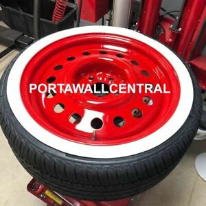 For 16 Rim Whitewall Port A Walls Tire Insert Trim Set 4 Pieces Hot Rod Rat Rod