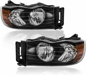 Headlights Assembly Replacement For 2002 2005 Dodge Ram 1500 2500 3500 Pickup