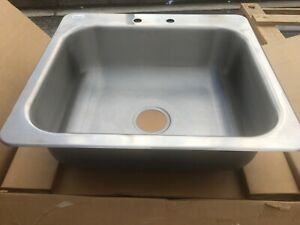 Advance Tabco Di 1 208 Sink Counter Top Drop in Stainless Steel 20x16x8 18g New