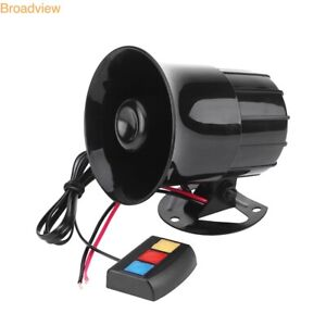 Car Warning Alarm 3 Sound Police Fire Siren Horn Loud Outdoor Speaker Tool 30w