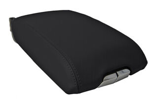 Center Console Lid Armrest Cover Leather For Cadillac Srx 2010 2016 Black