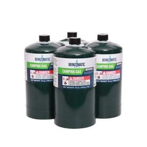 16 Oz Liquid Propane Gas Camping Cylinder 4 pack