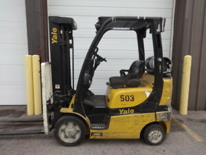 2014 Yale Glc050 5 000 Pound Lp Gas Forklift