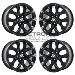 19 Bmw X5 Gloss Black Wheels Rims Factory Oem 71440 2011 2015 Set